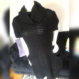 Grifflin Paris Womens Cowl Neck Knit Sweater Dress